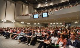 Cornell students in large auditorium, photo by Jing Jiang / Sun Assistant Photography Editor